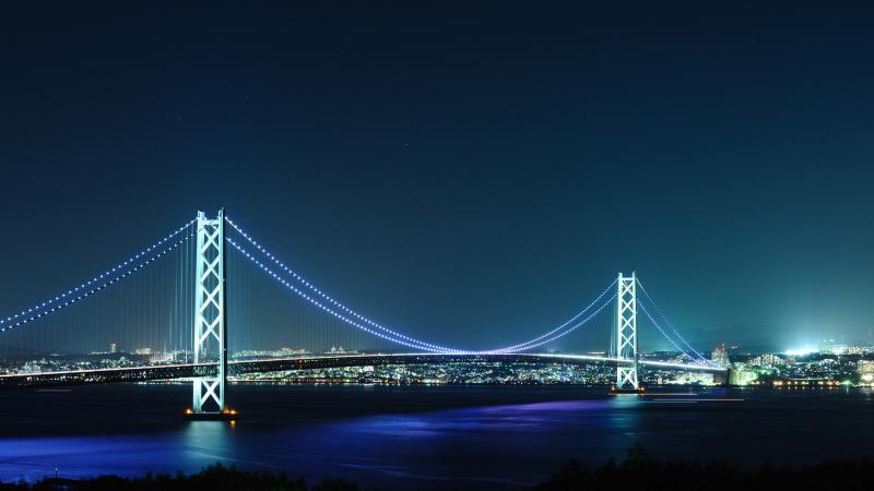 Cầu treo Akashi Kaikyo dài nhất Nhật Bản