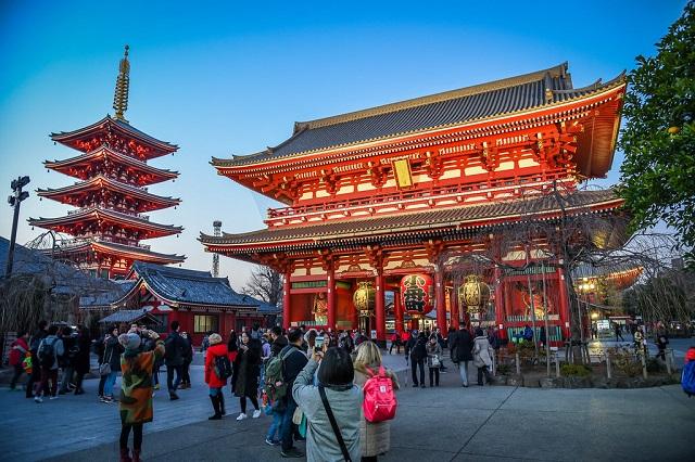 Chùa Asakusa - Ngôi chùa cổ nhất tại Tokyo
