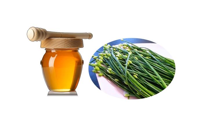 Hấp hẹ với mật ong để chữa viêm họng
