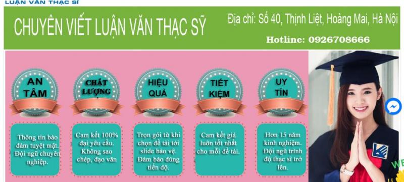 Top 7 Website thuê làm luận văn tốt nhất tại Việt Nam