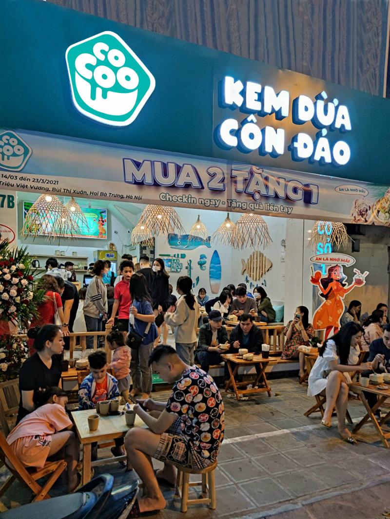 Top 10 Quán kem dừa ngon nhất ở Hà Nội