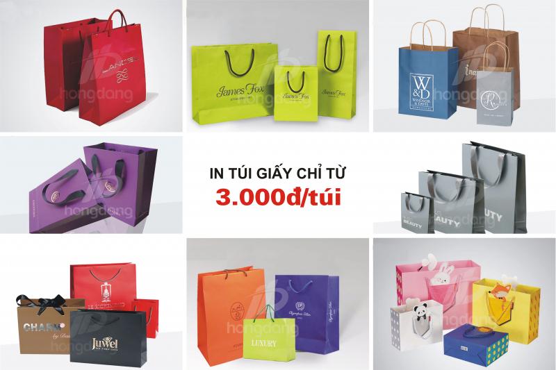 Top 10 địa chỉ in túi giấy giá rẻ lấy nhanh ở Hà Nội