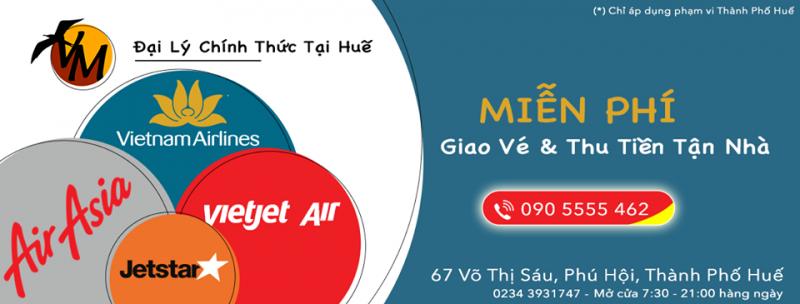 Top 6 Phòng vé, Đại lý bán vé máy bay uy tín nhất tại Huế