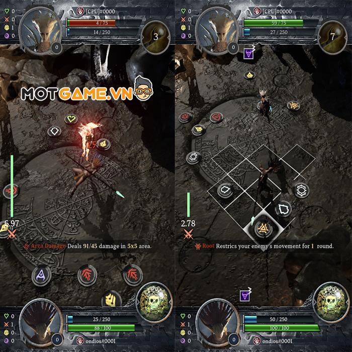 Tựa game chiến thuật màn hình dọc Deity Arena với cơ chế chiến đấu độc đáo