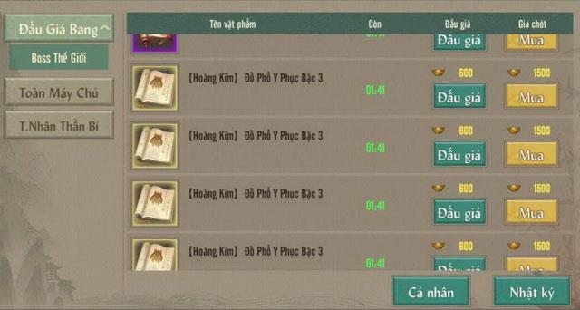 Toàn tập về đồ Hoàng Kim VLTK 1 Mobile