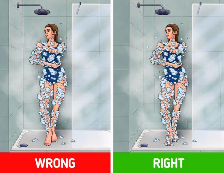 Top 7 Bộ phận cơ thể bạn có thể đang vệ sinh sai cách khi tắm