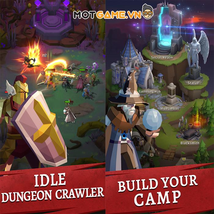 Chiến đấu với quái vật trong hầm ngục đen tối tại tựa game Eternal Ember