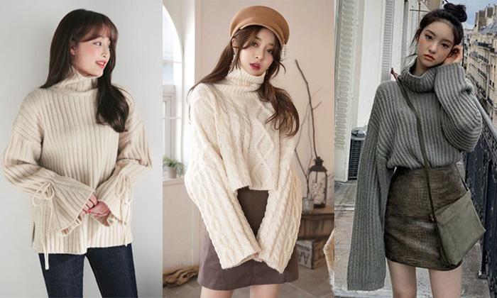 Top 5 Shop bán áo len nữ cổ lọ đẹp nhất ở Hà Nội