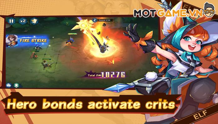Hero Squad – Game thẻ bài chiến thuật cho phép người chơi sắp xếp cả đội hình tướng địch