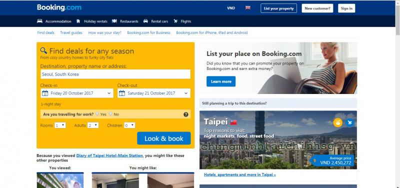 Top 10 Trang web thông dụng và hữu ích đối với dân du lịch