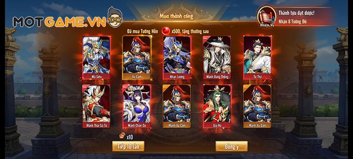 Bí kíp chiêu mộ Tướng ra đúng nước mong muốn trong game Tân OMG3Q VNG