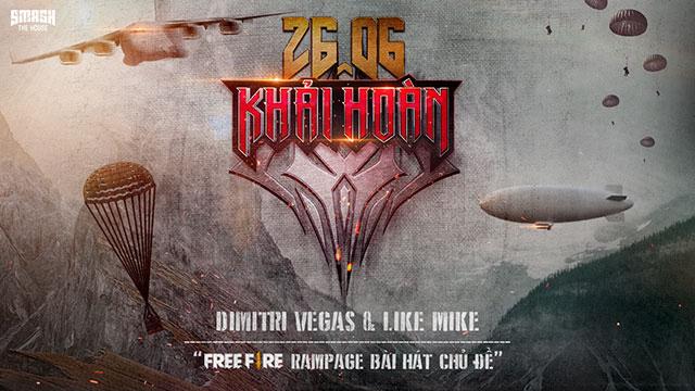 Garena Free Fire giới thiệu sự kiện Ngày Khải Hoàn cùng màn hợp tác với DJ Dimitri Vegas & Like Mike