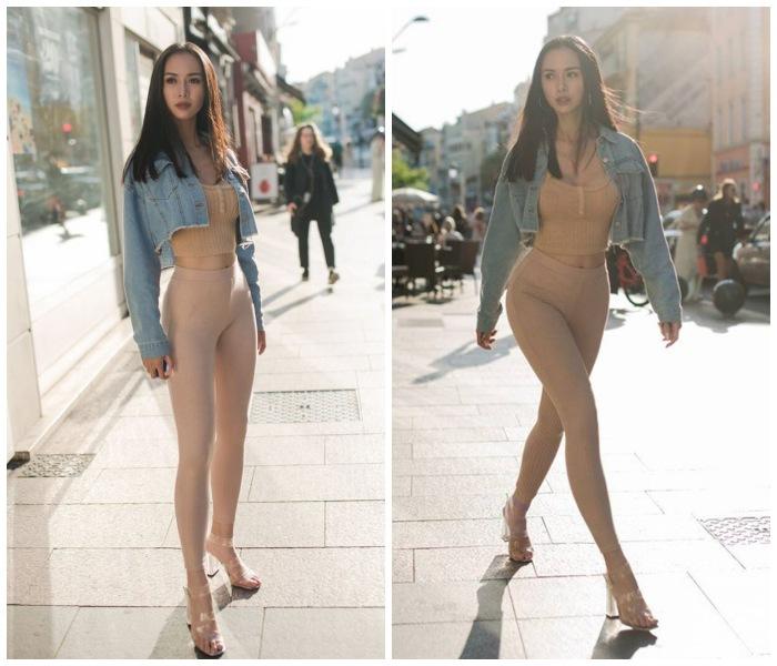 Hot girl dân tộc Mường gây hiểu nhầm vì chiếc quần gym màu nude