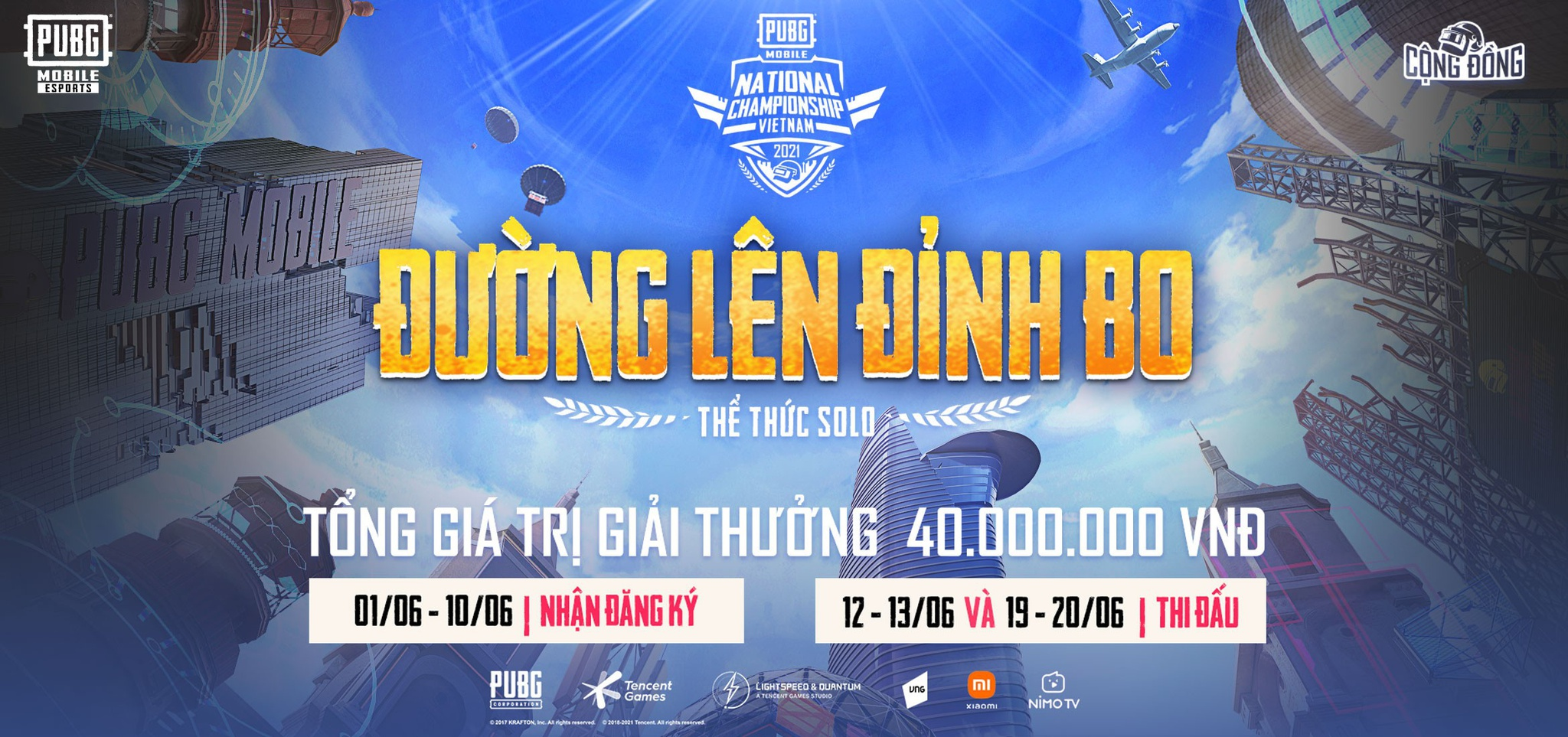 Game thủ PUBG Mobile Việt Nam thỏa sức so tài với 4 giải solo hấp dẫn