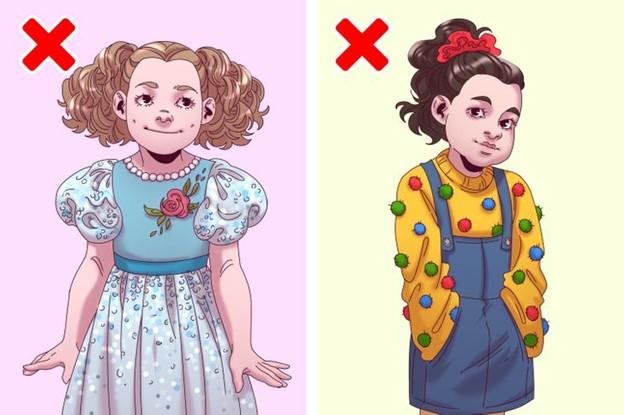 Top 10 Mẫu quần áo và phụ kiện cha mẹ nên tránh mua cho con