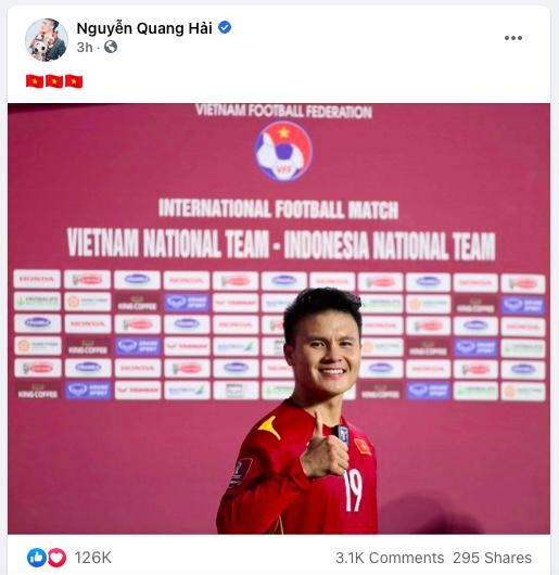 """Vũ Văn Thanh lên Facebook: """"Bàn thắng hôm nay con muốn dành tặng bố"""""""