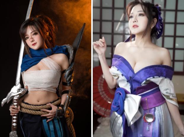 """Chủ đích khoe góc máy chơi game """"xịn sò"""" nhưng nữ coser lại khiến fan """"mlem"""" vì điều khác"""