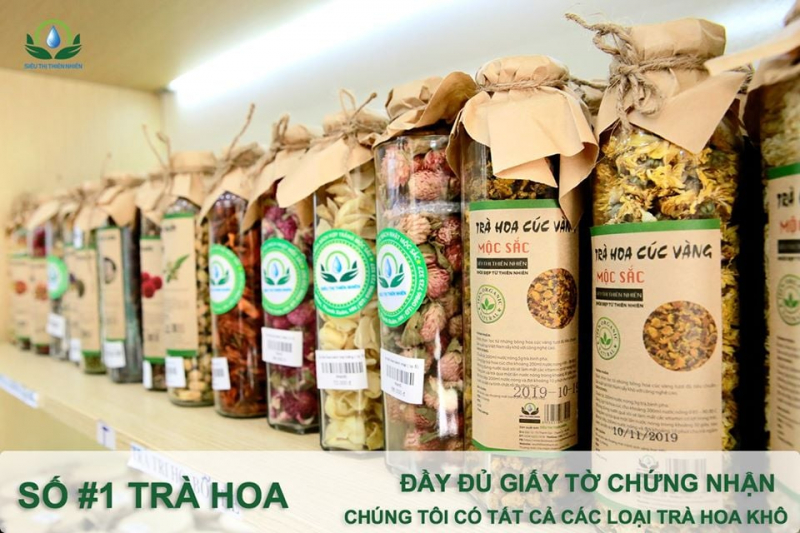 Top 5 Địa chỉ mua trà hoa khô thiên nhiên tốt nhất Hà Nội