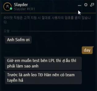 Slayder nuôi mộng xuất ngoại, hỏi SofM về điều kiện gia nhập LPL, nhưng liệu cơ hội có rộng mở?