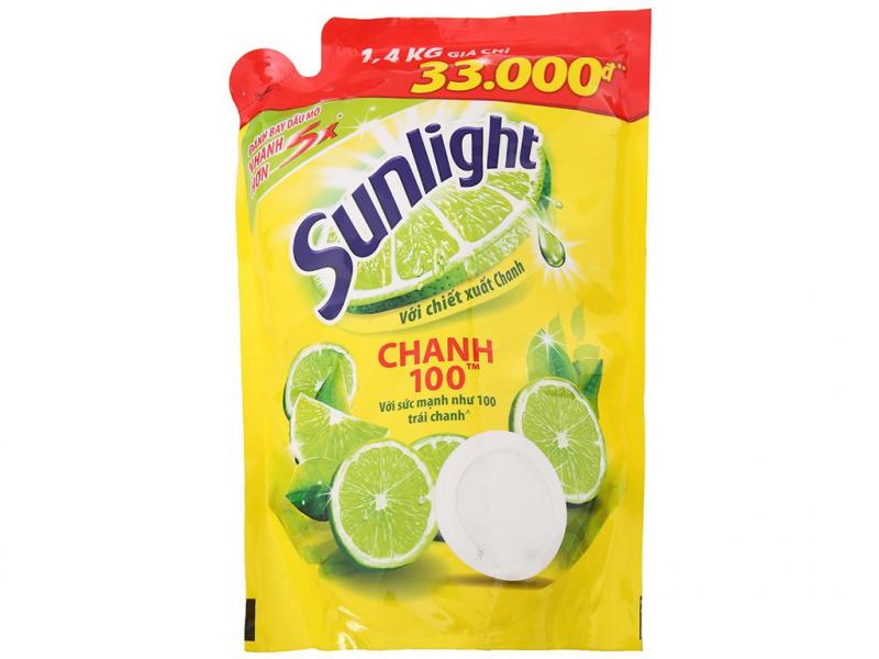 Sử dụng chanh + nước rửa bát( sunlight) + nước