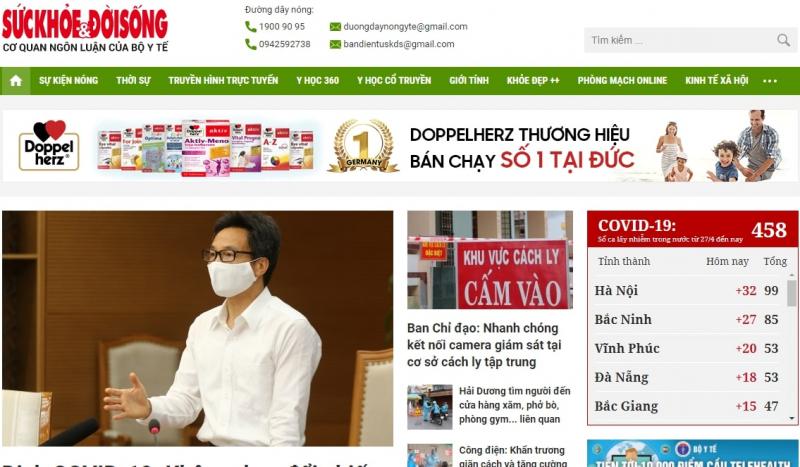 Top 7 Website chăm sóc sức khỏe hot nhất Việt Nam