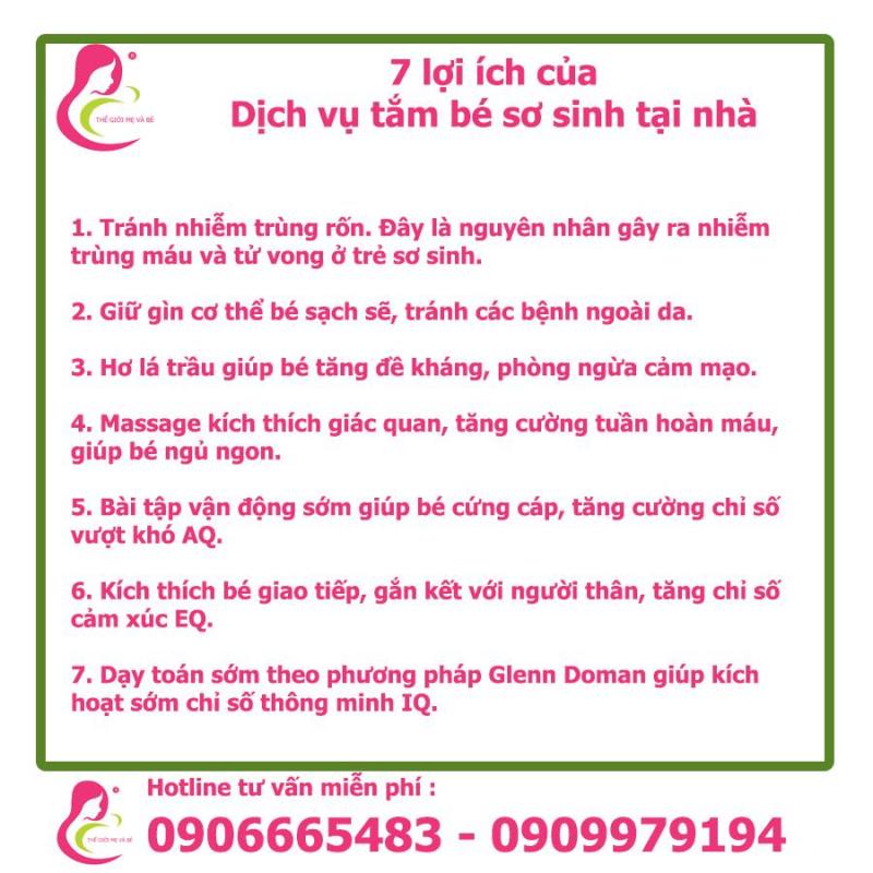 Top 3 Dịch vụ tắm bé sơ sinh tại nhà tốt nhất ở Đà Lạt