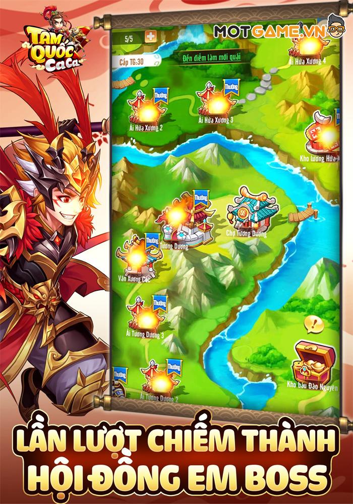 Tam Quốc Ca Ca game thẻ tướng Idle đa nền tảng cùng hệ thống tướng siêu to khổng lồ