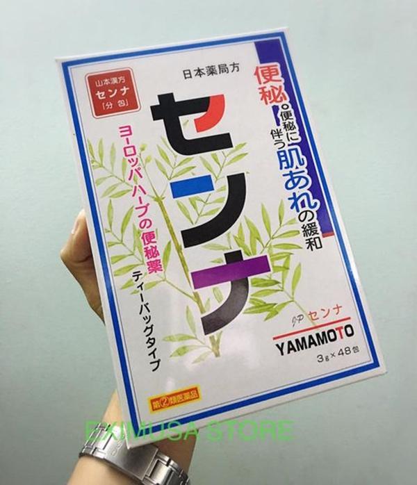 Trà trị táo bón Yamamoto làm từ 100% các loại thảo dược thiên nhiên, có dạng bột hòa tan