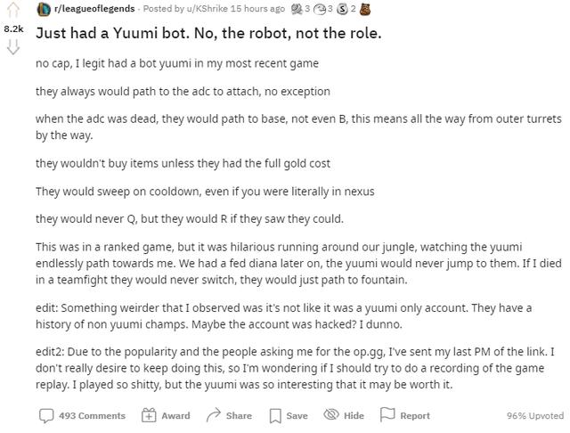 """Cộng đồng LMHT phát hiện hình thức phá game mới vô cùng tinh vi khi Yuumi biến thành """"robot tự động"""""""
