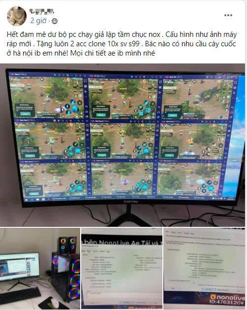 """Game thủ VLTK 1 Mobile gây sốc với cấu hình PC đời Tống """"treo được 10 acc, tạo nên vấn nạn kinh dị của game - Ảnh 1."""