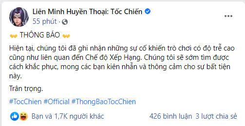 Fanpage chính thức thừa nhận Tốc Chiến gặp sự cố nghiêm trọng, người chơi Việt thề sẽ đánh sập game