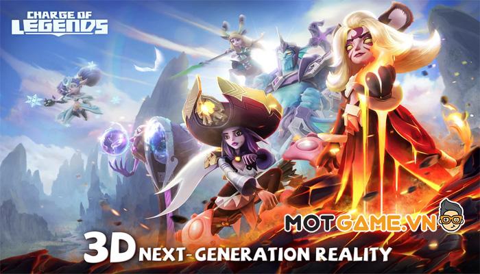 Trải nghiệm đồ họa 3D thế hệ mới trong Charge of Legends!