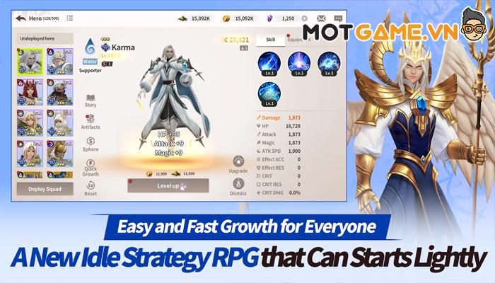 Epic Fantasy game thẻ tướng truyền thống kết hợp nhiều yếu tố Idle