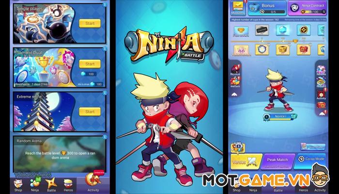 Ninja Duel game thủ tháp 2 trong 1 dễ chơi dễ nghiện!