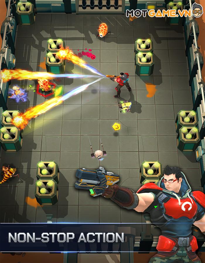 Spacelanders game bắn súng hành động với lối chơi tối giản 1 ngón tay!