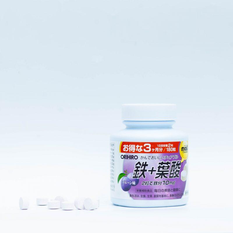 Acid Folic Orihiro Most Chewable Iron - sản phẩm hoàn hảo để mẹ bầu lựa chọn.
