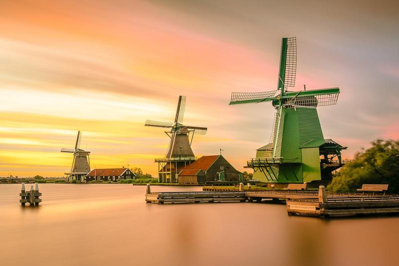 Làng cối xay gió Zaanse Schans (Amsterdam)