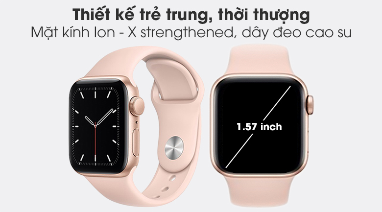 Apple Watch SE 40mm (GPS) Viền Nhôm - Dây Cao Su
