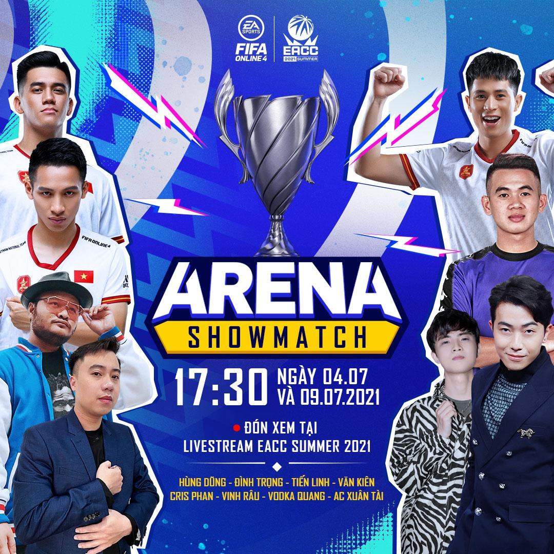 Cris Devil Gamer, Hùng Dũng cùng dàn tuyển thủ Việt Nam góp mặt Arena Showmatch của FIFA Online 4