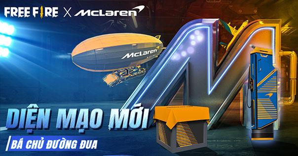 Bá Chủ Đường Đua - Sự kiện hợp tác giữa Garena Free Fire và hãng siêu xe McLaren chính thức ra mắt