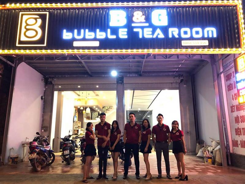 Đội ngũ nhân viên trẻ trung của B & G Bubble Tea Room
