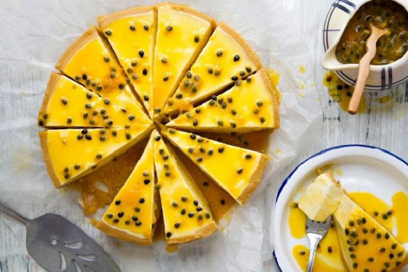 Bánh cake sữa chua chanh leo