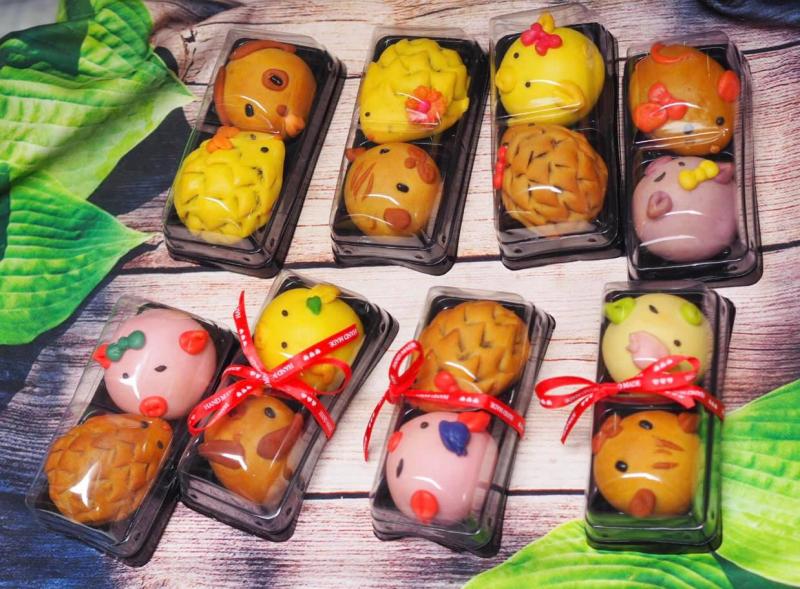 Bánh trung thu lợn màu sắc handmade - Diệu An