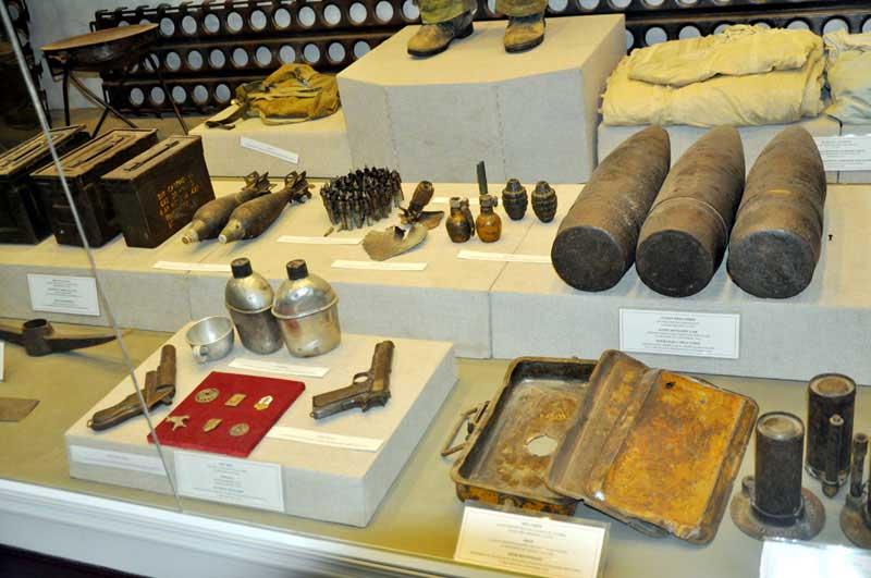 Hiện vật tại Bảo tàng chiến thắng Điện Biên