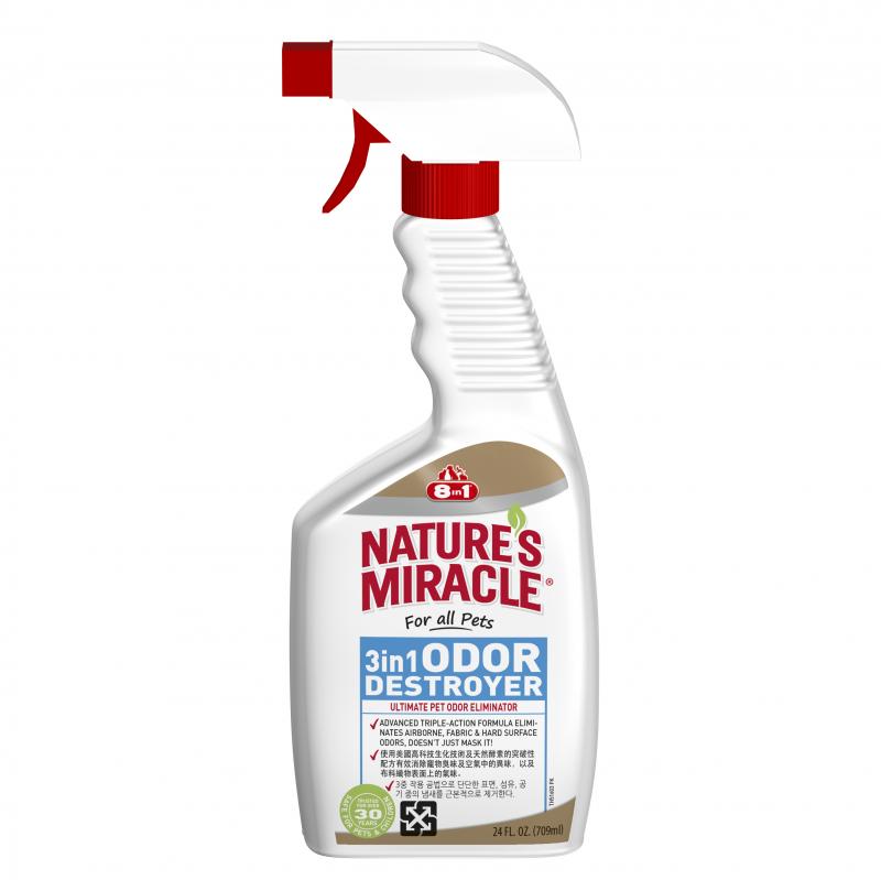 Bình xịt khử mùi 3 trong 1 8in1 Nature's Miracles