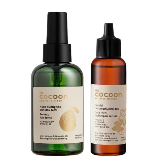 Bộ sản phẩm chăm sóc tóc của Cocoon