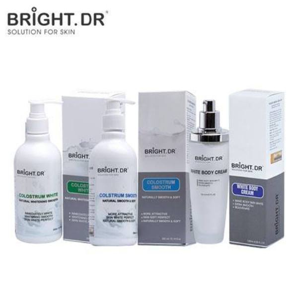Bộ Sữa Non - Tắm - Ủ - Dưỡng Toàn Thân Colostrum White, Colstrum Smooth & White Body Cream Bright Doctors