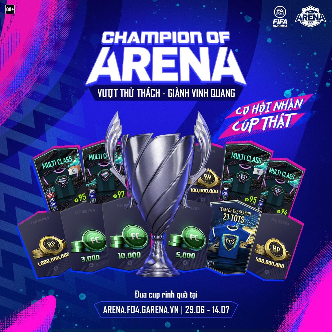 Champion of Arena: Khi game thủ cạnh tranh danh hiệu 'Vua Đấu Trường' của FIFA Online 4