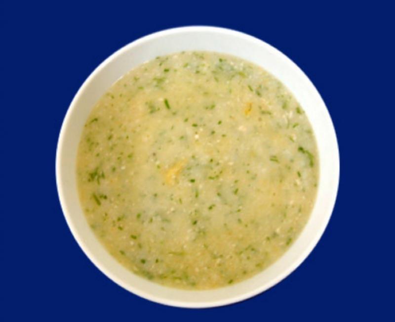 Cháo cá thu nấu với khoai tây