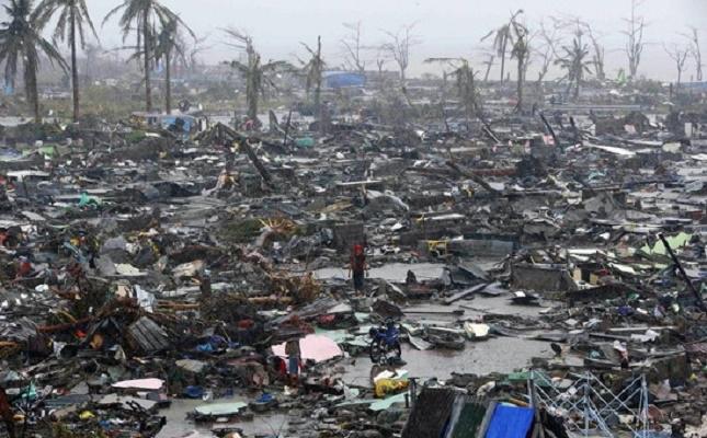 Cơn bão Nargis tàn phá một thị xã Myanmar